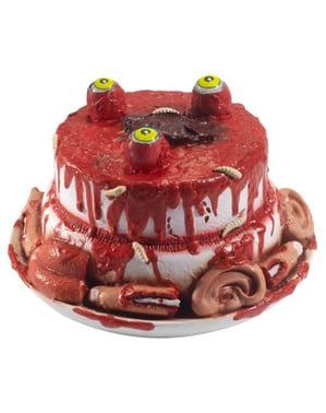 Zombie menselijke lichaamsdelen taart