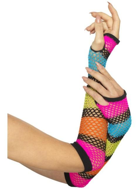 Rękawiczki kabaretki kolorowe bez palców dla dorosłych
