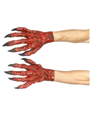 Gants démon en latex adulte