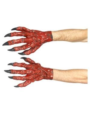 Handskar demon i latex för vuxen