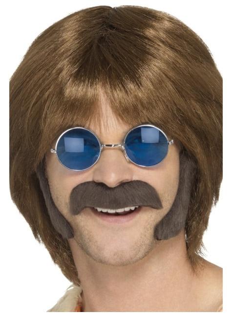 Kit de hippie moderno castaño para hombre