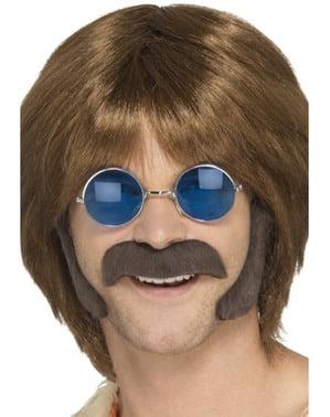 Kit de hippie moderno castanho para homem