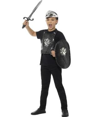Kit de caballero del dragón oscuro para niño