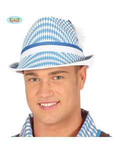 c29f7ac869a37 Sombrero oktoberfest blanco y azul para adulto
