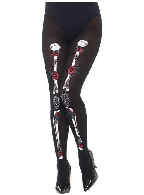 Women's Catrina skeleton tights
