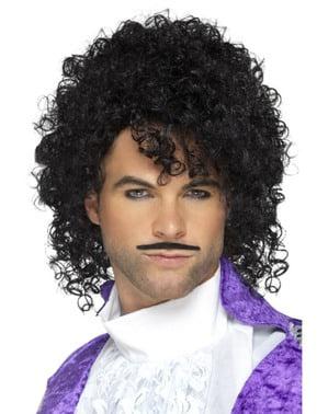 Peruca de Prince Purple com bigode