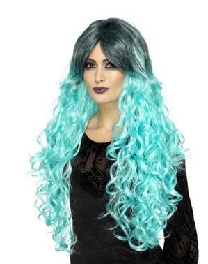 Gebleekte Turquoise pruik voor vrouw