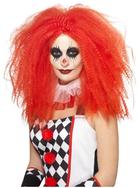 Volle rode Harlequin pruik voor vrouw