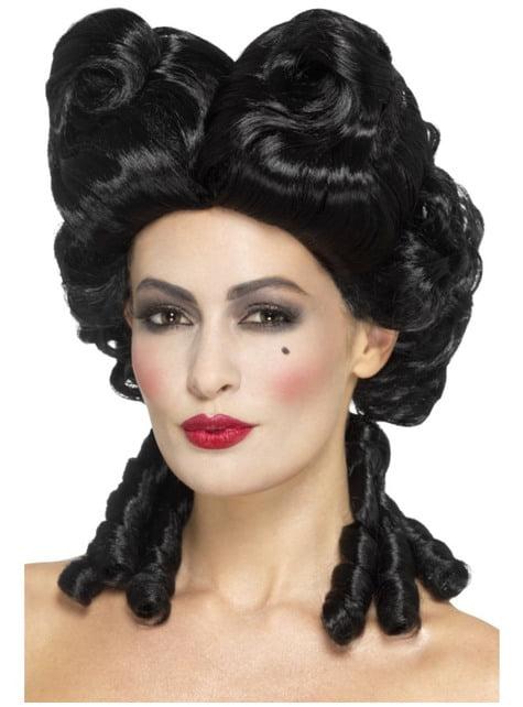 Μαύρη περούκα μπαρόκ γυναικών