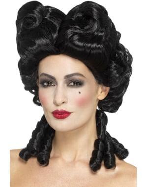 Peruka barokowa czarna damska