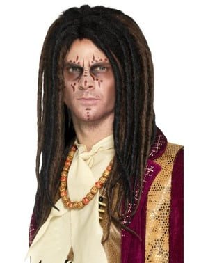 Dospělá voodoo paruka s dredy