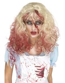 Blodplettet Alicia paryk til kvinder