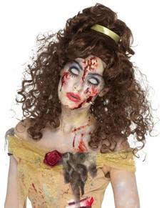 Peluca de bella zombie para mujer