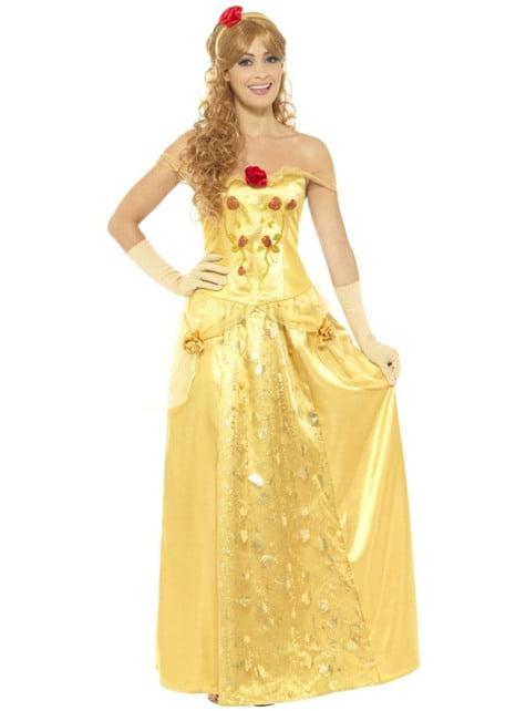 Déguisement princesse dorée classic femme