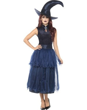 Mitternachts Hexen Kostüm für Damen
