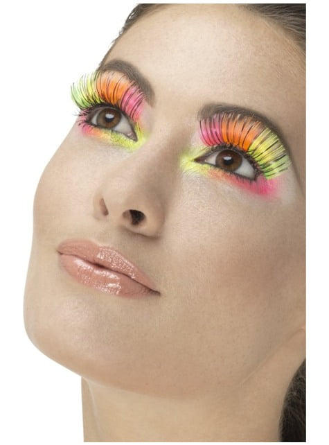 Women's neon multicolour eyelashes