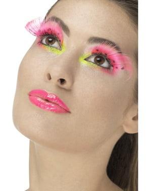 Ögonfransar rosa med svarta prickar dam
