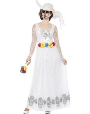 Disfraz de novia muerta del día de los muertos para mujer