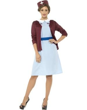 Disfraz de enfermera de guerra azul