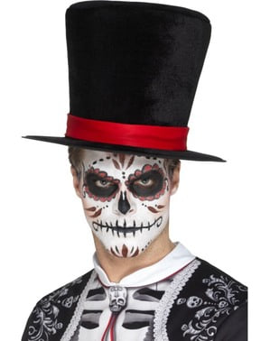 Adults' Day of the Dead top hat