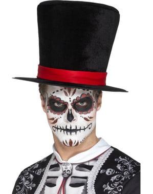 Chapéu de copa do dia dos mortos para adulto