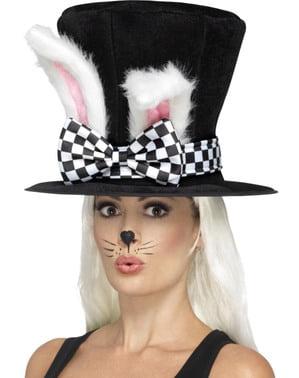 Chapéu de coelho das maravilhas para adulto