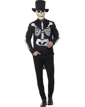 Costume signor scheletro elegante per uomo