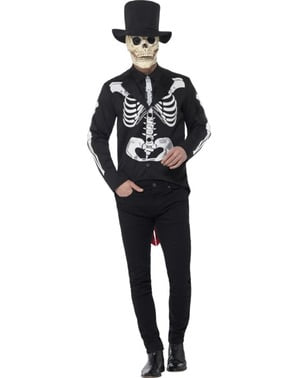 Elegant skeleton lord costume for men