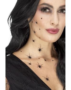 Tatoeage zwarte spinnetjes