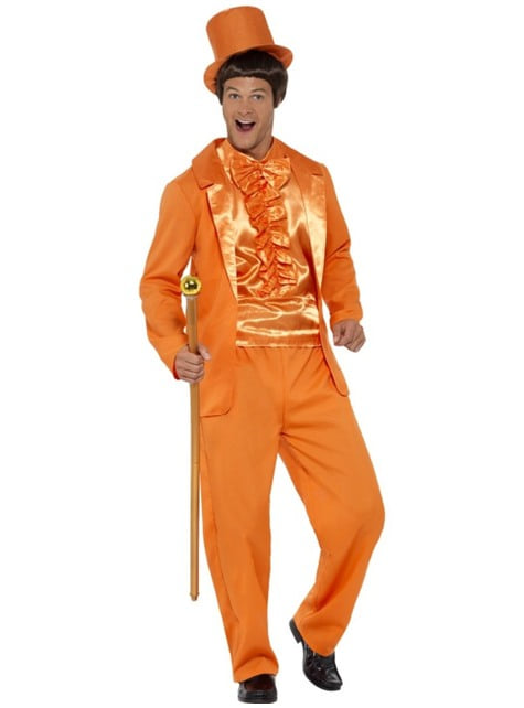 Disfraz de tonto naranja para hombre
