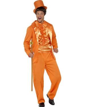 Costume da tonto arancione per uomo