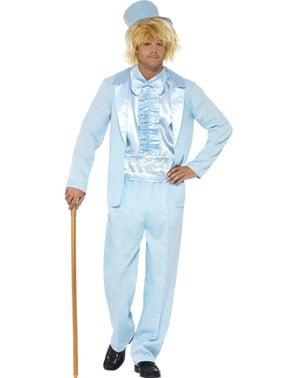Чоловічий синій тупий і тупій костюм
