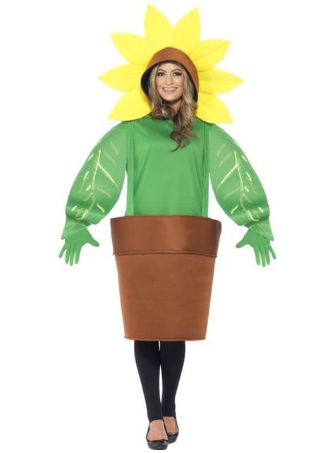 Adults' flower in a flowerpot costume