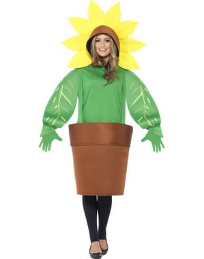 Adults' flower in a flowerpot costume