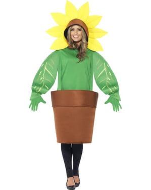 Blomst i krukke kostume til voksne
