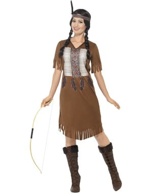 Amerikanische Indianerin Kostüm für Damen