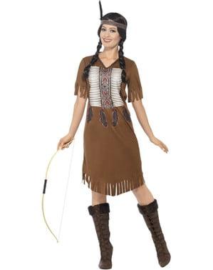 Fato de índia nativa americana para mulher
