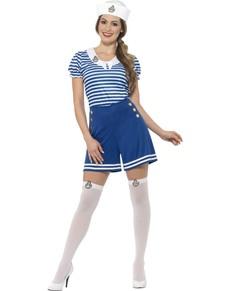 b65fb1730d4 Blue hard-working sailor costume for women
