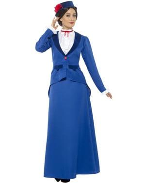 Victoriaans supper nanny kostuum voor vrouw