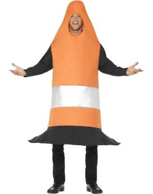 Costume da cono arancione per adulto