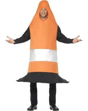 Oranje Pylon kostuum voor volwassenen