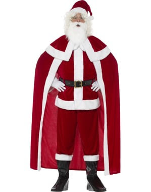 Father Christmas with cape costume for men