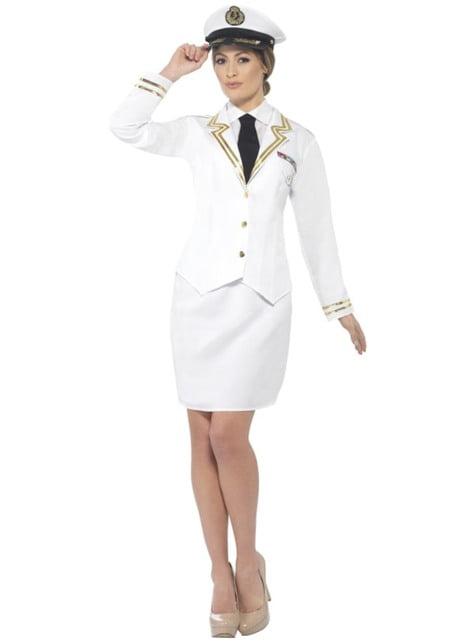Kostüm eleganter Schiffskapitän für Frauen