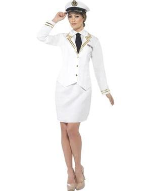 Déguisement capitaine de bateau élégant femme