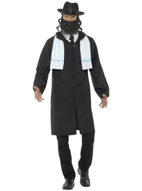 Disfraz de rabino bondadoso para hombre