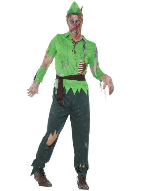 Disfraz de justiciero de los bosques zombie para hombre