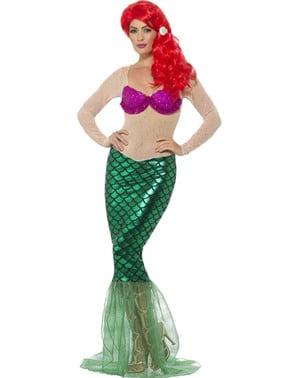 Ženska je sjajan sirena kostim