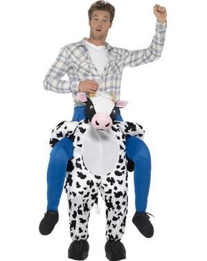 Piggyback koeien kostuum voor volwassenen