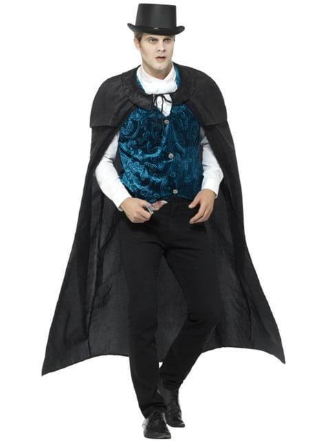 Disfraz de vampiro Victoriano terciopelo para hombre