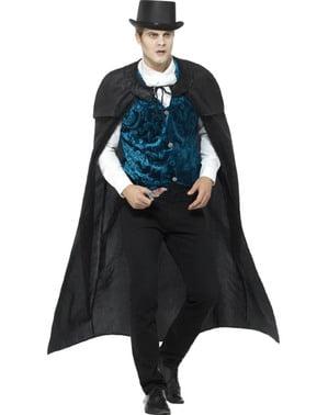 Costume da vampiro Vittoriano vellutato per uomo